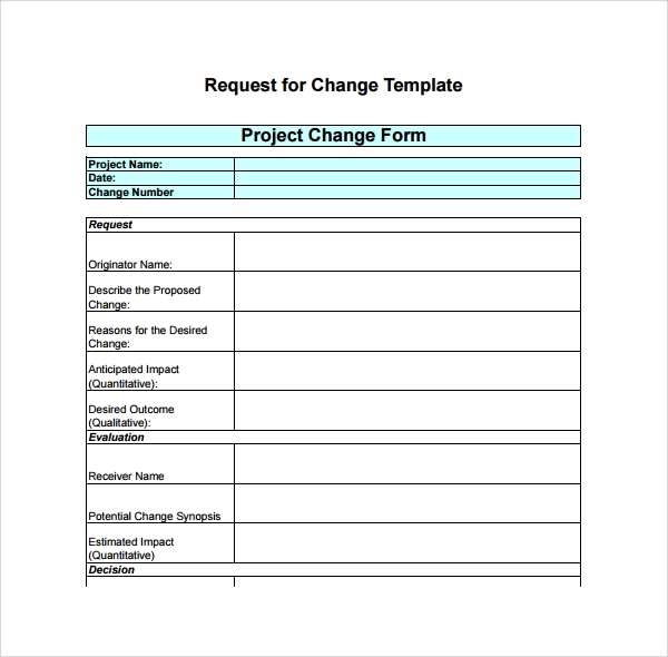 Project Change Log Template  Project Log Template