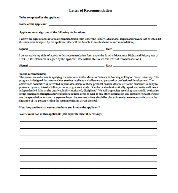 Sample Nurse Reference Letter   Documents In Pdf  Doc
