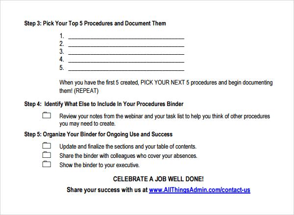 procedural document template