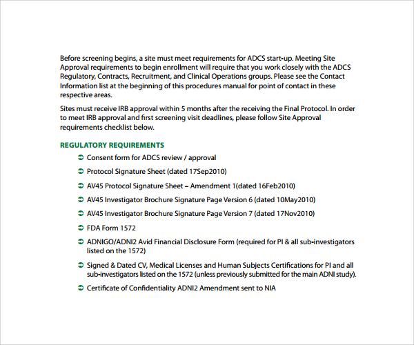 Sample Procedural Manual Template U2013 9+ Free Documents In PDF