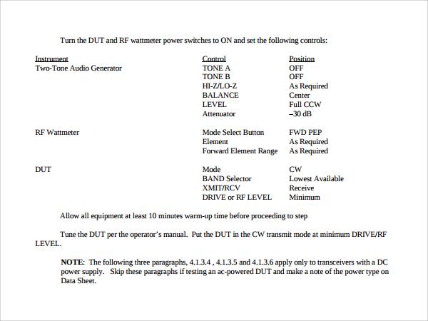 procedural manual template free
