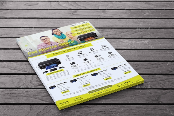 multi purpose product advertising flyer