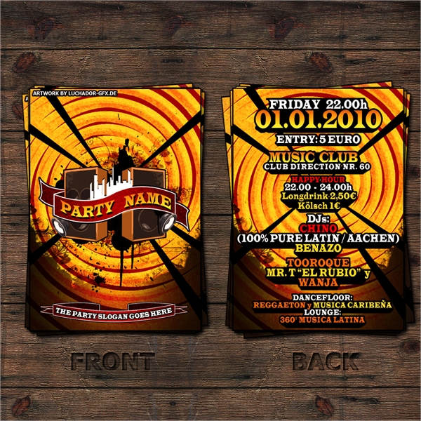 latin party advertising flyer template