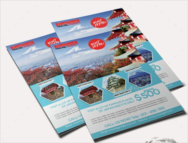 travel advertising flyer template