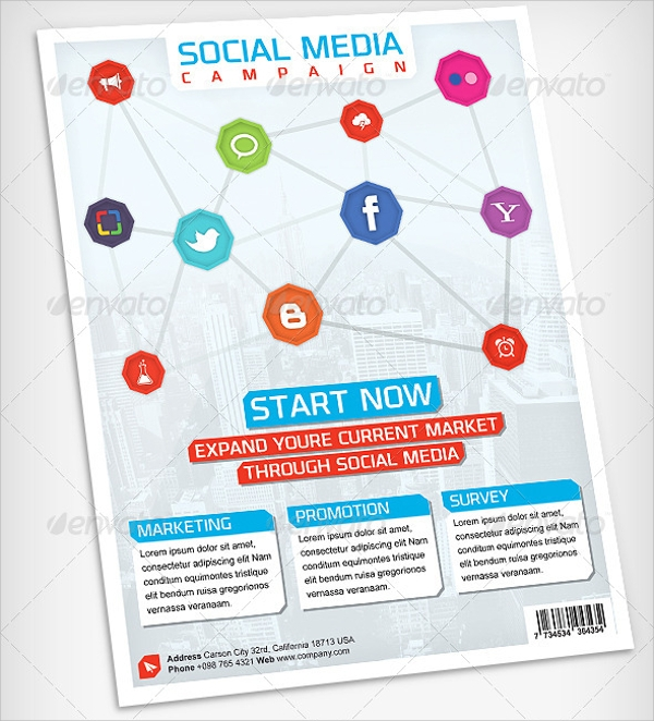 social media advertising flyer