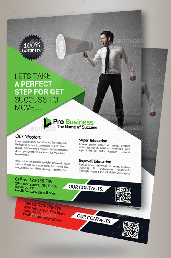 company advertising flyer template