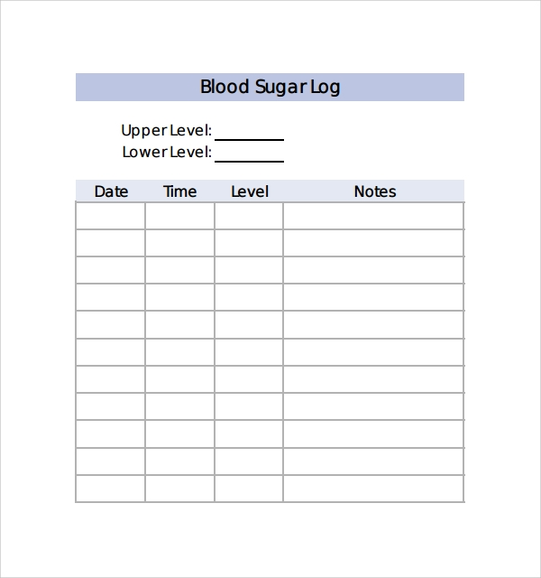 Sample Blood Sugar Log Template - 9+ Free Documents in PDF, Word