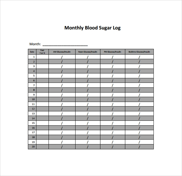 sample blood sugar log template 9 free documents in pdf word