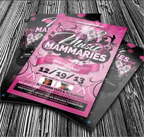 Cancer Benefit Flyer Template  Benefit Flyer Templates