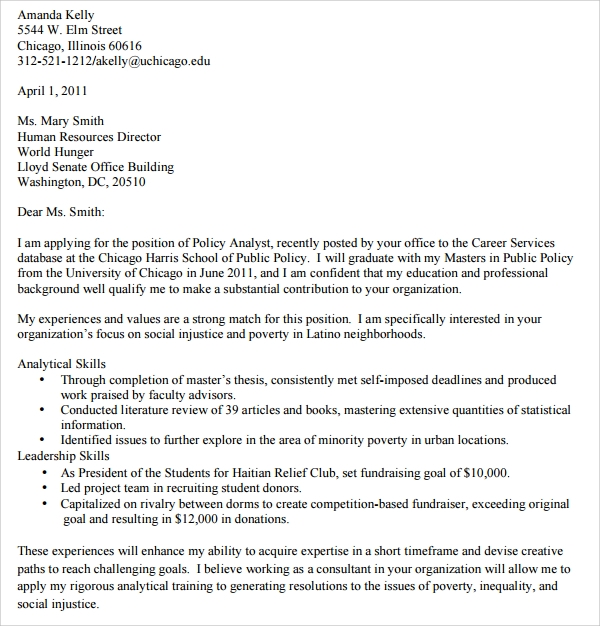 Sample Academic Advisor Cover Letter - 9+ Free Documents in ...