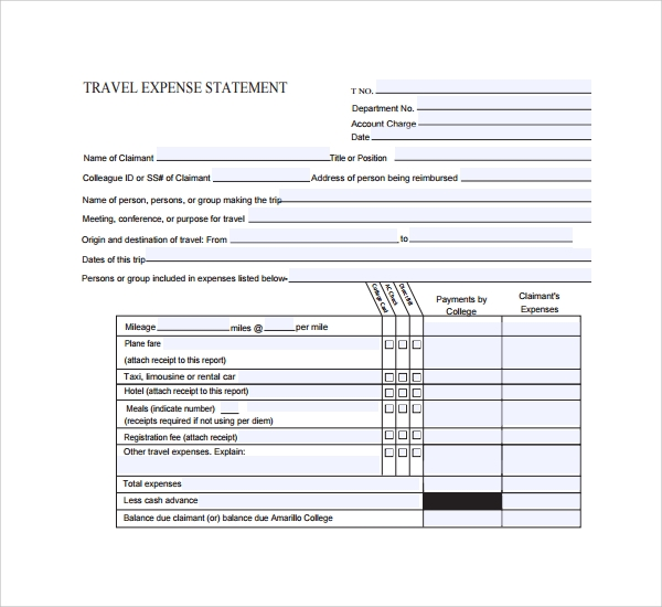 example of expense statement template%ef%bb%bf