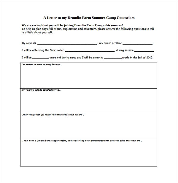 Sample Camp Counselor Cover Letter  Free Documents In Pdf  Word