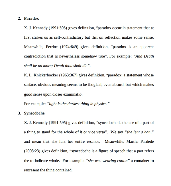 Sample Figure Of Speech Example Template   Free Documents In Pdf