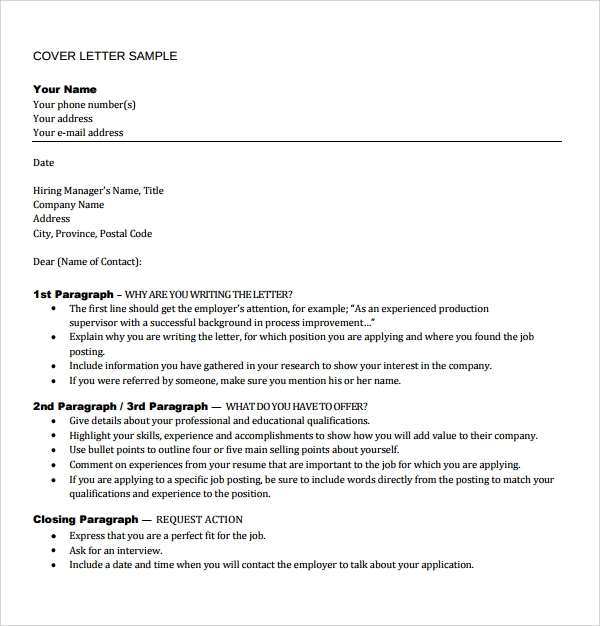 free 8  sample director of operations cover letter