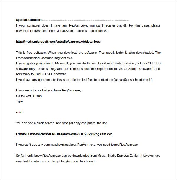 Latex User Manual template