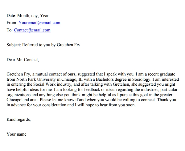 sample communication cover letter