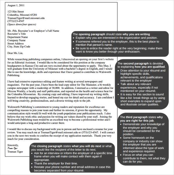 Sample Editorial Assistant Cover Letters - 13+ Documents in ...