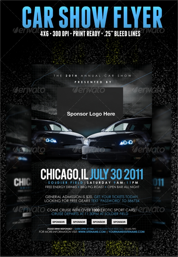 Car Show Flyer Template   Download In Vector Eps Psd