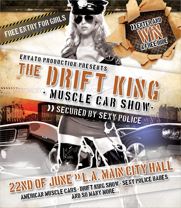 Car Show Flyer Template Art Student
