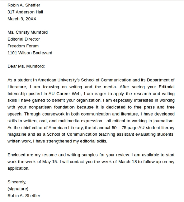 Sample Editorial Assistant Cover Letters   Documents In Pdf Word