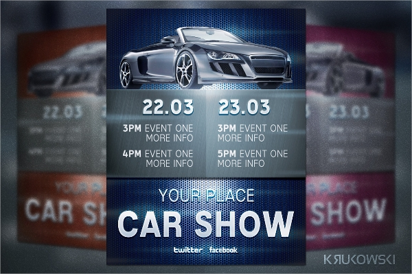 amazing car show flyer template