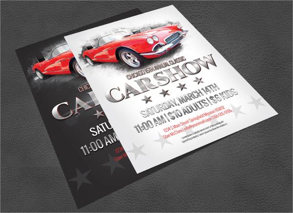 psd format car show flyer template