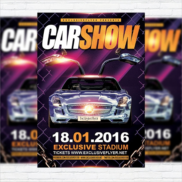 Car Show Flyer Template - 20+ Download In Vector EPS, PSD
