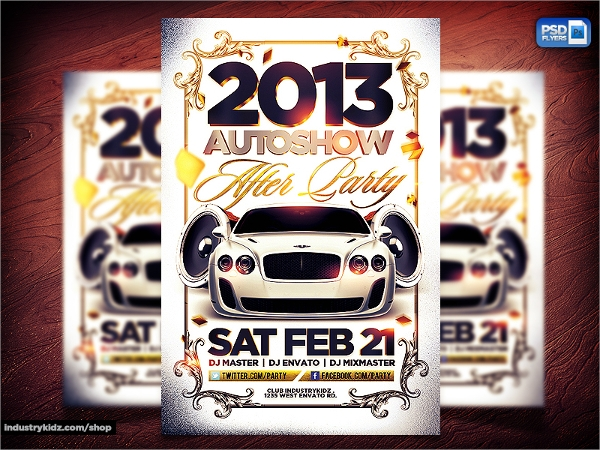 attracting car show flyer template