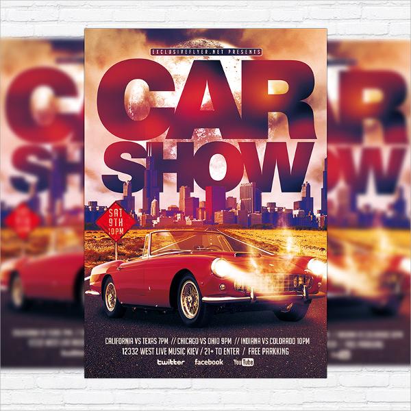 adorable car show flyer template