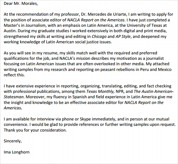 Cover Letter For Data Quality Analyst AinMath Writing Your Cover Letter  Marist College