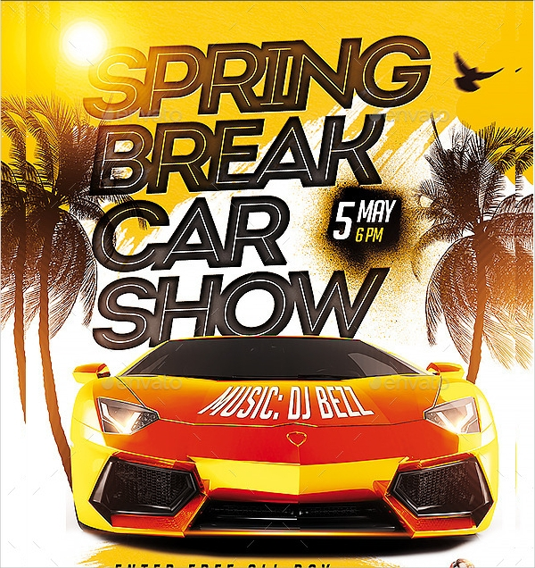 spring car show flyer template1