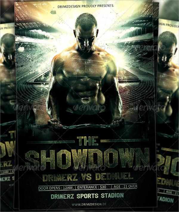 attractive showdown flyer