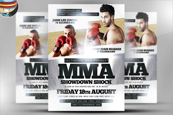 Ufc Flyer Template Mma Boxing Fight Cinematic Flyer Template Psd By