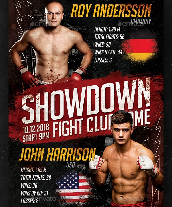 14 showdown flyer templates psd format download