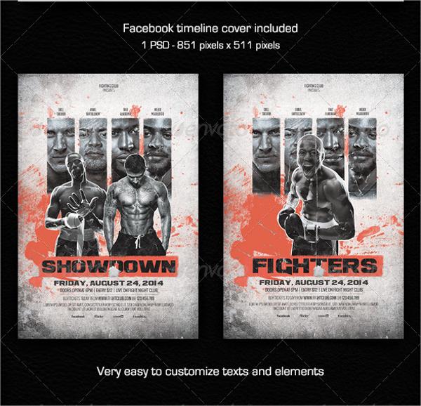 showdown fighting club flyer