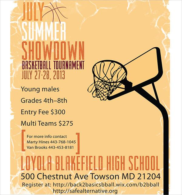 showdown basketball tournament flyer