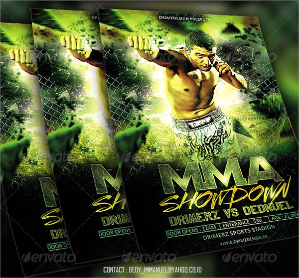 14  showdown flyer templates