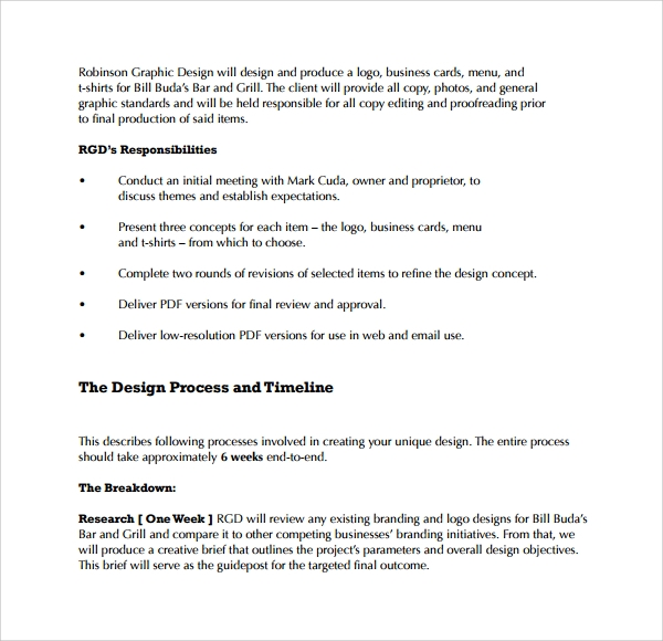 Sample Graphic Design Proposal Template 9 Free Documents in PDF – Graphic Design Proposal Example