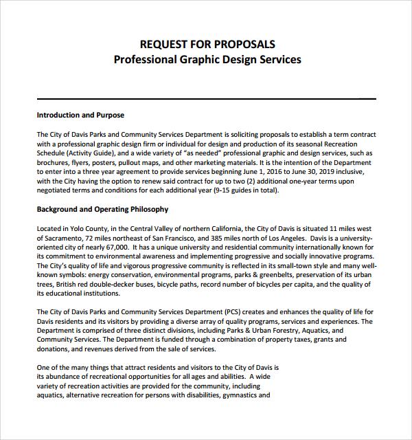 request for proposals graphic design service