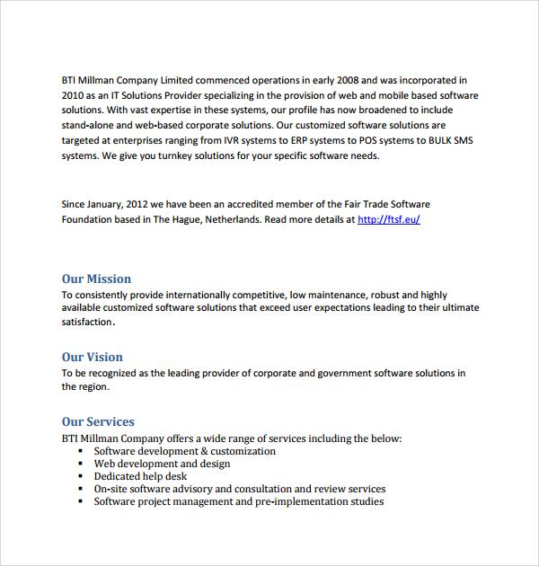 Sample Software Development Proposal Template