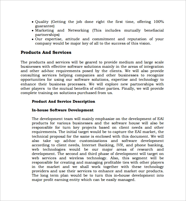 Sample Software Development Proposal Template 13 Free Documents