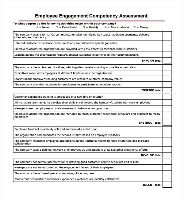 competence assessment questionnaire Answer the following questions related to your competency development: where and how have your experiences demonstrated competence competency assessment worksheet.