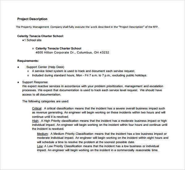 14 property management proposal templates to download for Charter school proposal template