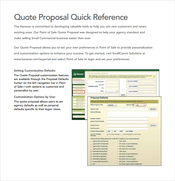 Sample Quote Proposal Template   Free Documents In Pdf Word