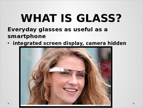google glass powerpoint template