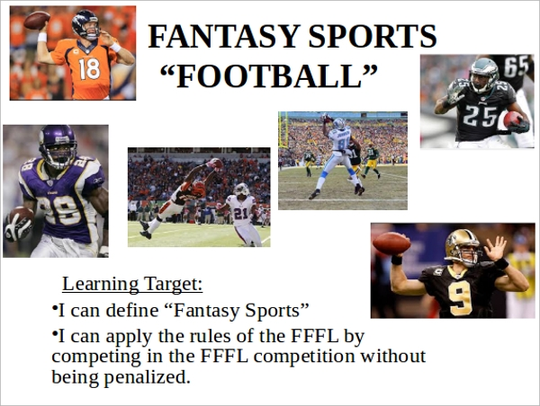 fantasy football powerpoint template