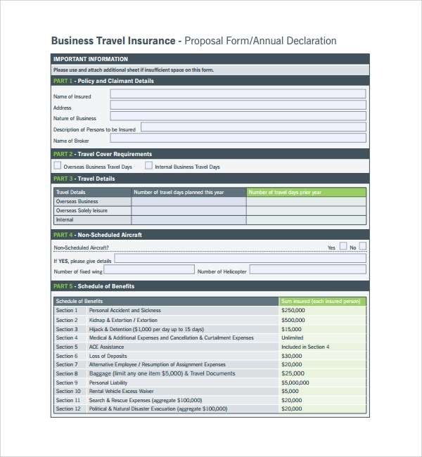 Insurance Proposal Template Home Insurance Proposal Form