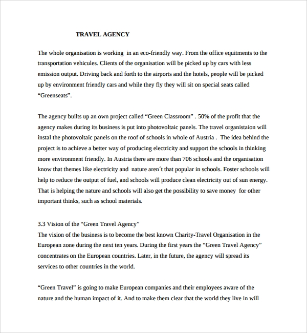 Travel Agency Propose Template  Charity Proposal Template