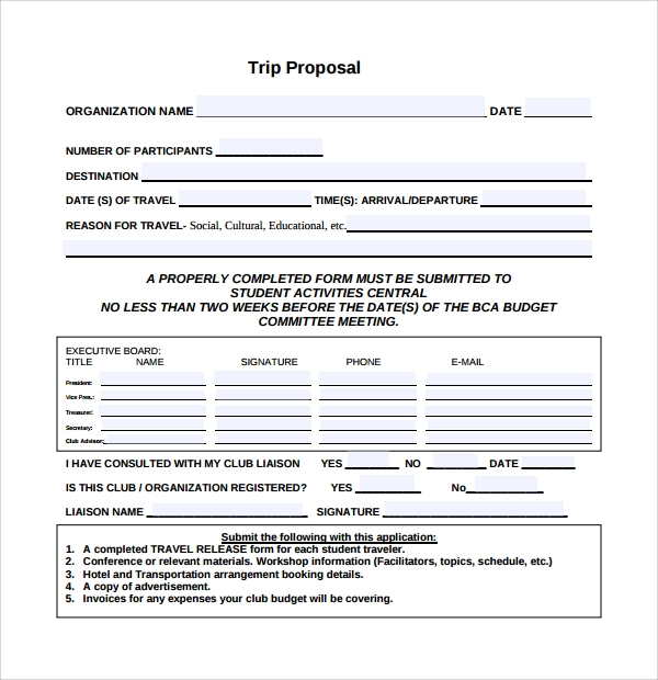 Sample Travel Proposal Template 9 Free Documents In Pdf