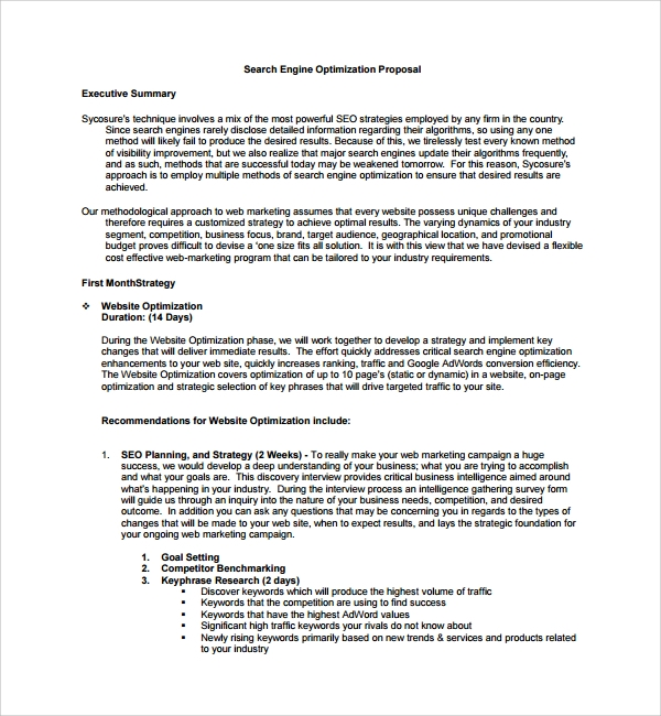 Proposal Executive Summary Template Vosvetenet – How to Write an Effective Executive Summary